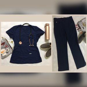 Grey's Anatomy Scrub Set (FREE Pants) Navy